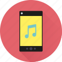 app, mobile, music, note, phone, smartphone, sound icon