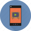 app, channel, mobile, phone, television, tube, video icon