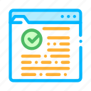 approved, internet, mark, site, web icon