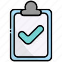clipboard, document, list, approved, done, check, accept