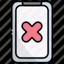 smartphone, mobile, communication, rejected, denied, cancel, block
