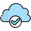 cloud, storage, data, approved, done, check, accept