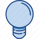 blue, bulb, idea, lamp, light icon
