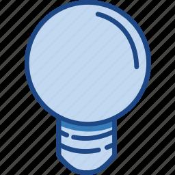 blue, bulb, idea, lamp, light icon