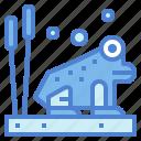 amphibian, animal, frog, wildlife icon