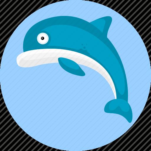 aquatic creatures, dolphin, fish, fishing, ocean, sea icon