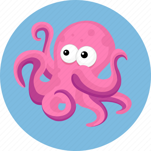 aquatic creatures, ocean, octopus, sea icon