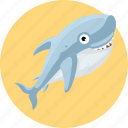 aquatic creatures, fish, ocean, sea, shark icon