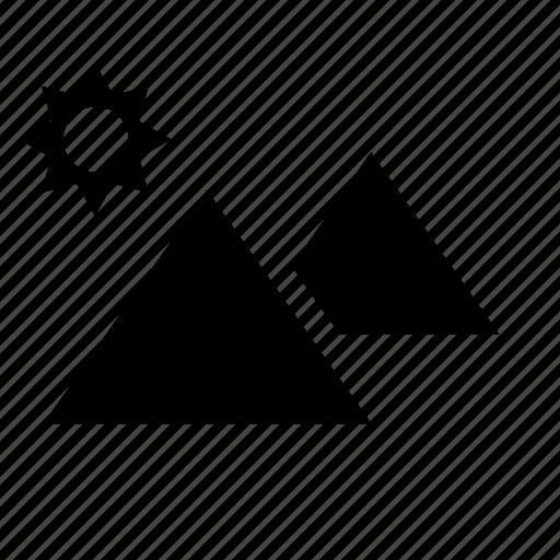 building, egypt, egyptian, pyramid icon