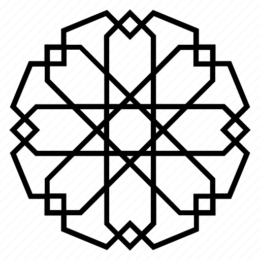 abstract, arabesque, geometric, islamic-art, ornament, pattern, symmetric icon