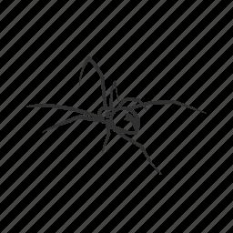 arachnid, big spider, black widow, deadly spider, latrodectus ×, poisonous spider, spider icon