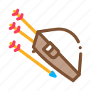 archery, arrows, bag, carrying, container, package, storing icon