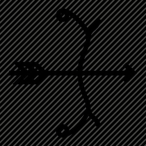 archery, arrow, bow, sport icon