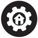 configuration, fitting, gear, home, house, maintanance, setting icon