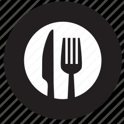 breakfast, dinner, food, fork, kitchen, restaurant, spoon icon