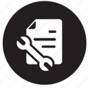 analytics, data, receipt, repair, reports, tool, tools icon