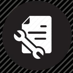 analytics, data, receipt, repair, reports, tool, tools icon
