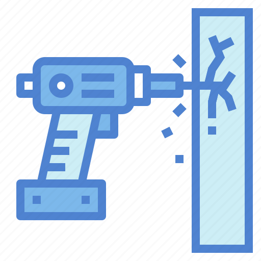 Drill, driller, repair, wall icon - Download on Iconfinder