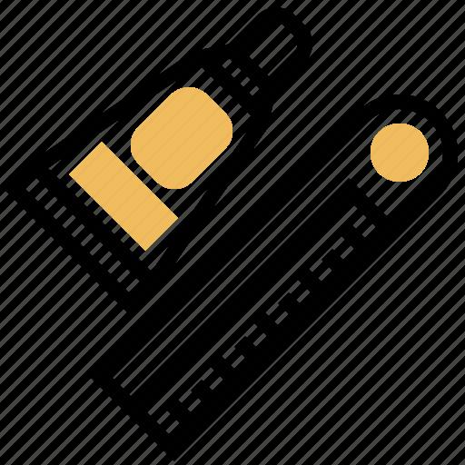 Glue, line, repair, ruler, wood icon - Download on Iconfinder