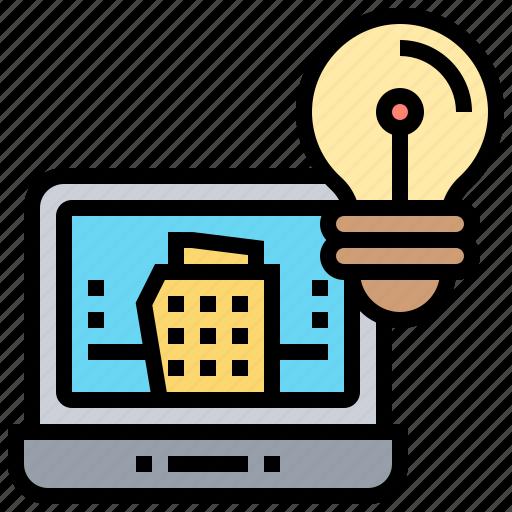 architecture, design, idea, project, research icon