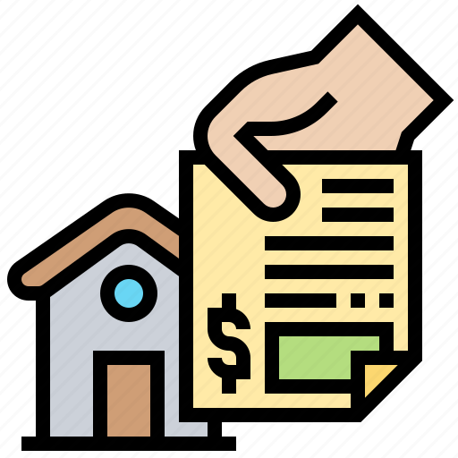 deed, house, insurance, license, permit icon