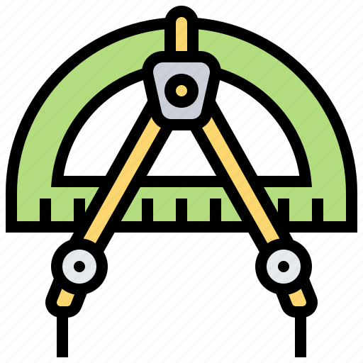 Compasses, drawing, math, protractor, tool icon - Download on Iconfinder
