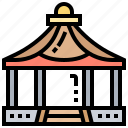 marquee, outdoor, pavilion, shelter, tent icon