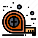 measuring, scale, tape, tool icon