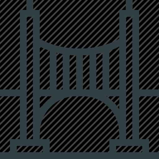 bridge, iron, river, road icon