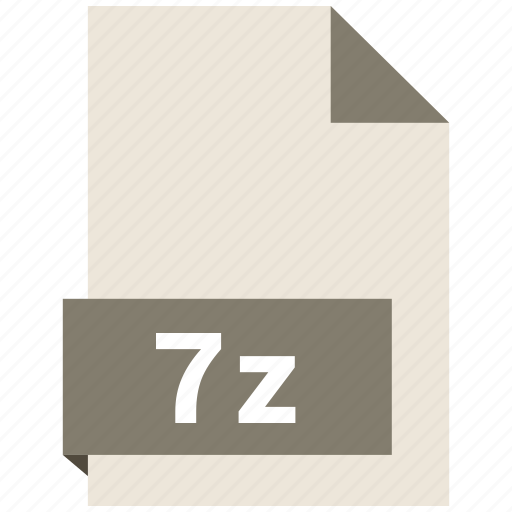 7z, archive file format, document, extension, file format icon