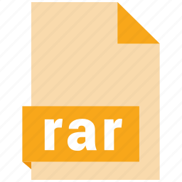 archive file format, document, extension, file format, rar icon