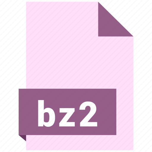 archive file format, bz2, document, extension, file format icon