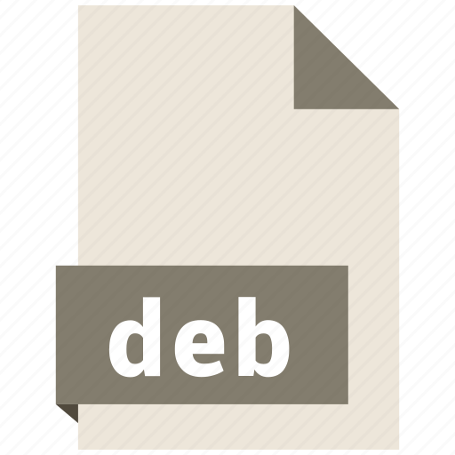 archive file format, deb, document, extension, file format icon