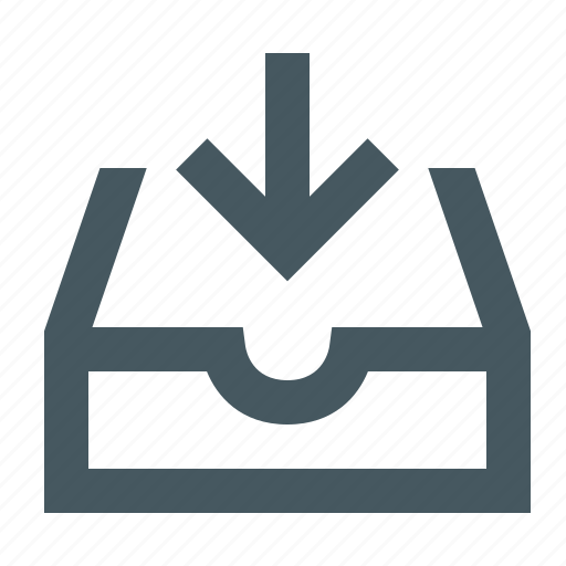archive, archiving, documents, download, files, gizmo, inbox, simple icon