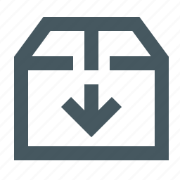 archive, archiving, box, documents, files, gizmo, moving box down, simple icon