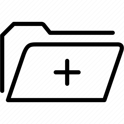 add, data, document, file, folder, plus, storage icon