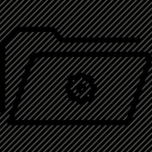 data, document, file, folder, gear, settings, storage icon