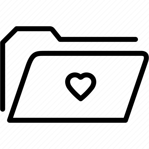 data, document, file, folder, heart, love, storage icon