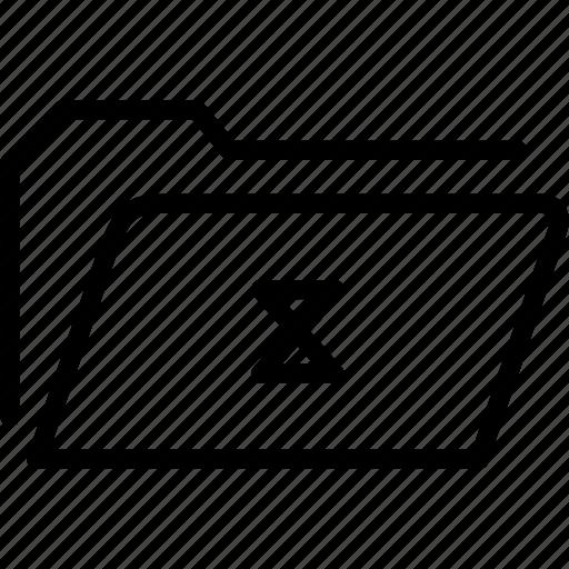 data, document, file, folder, loading, storage icon