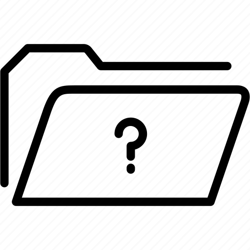 data, document, file, folder, mark, question, storage icon
