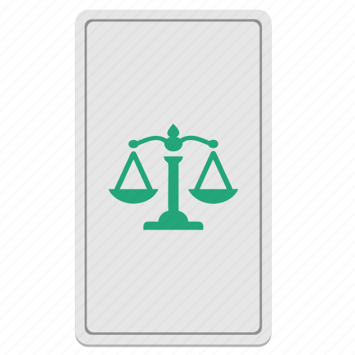 card, court, divination, scales, tarot icon
