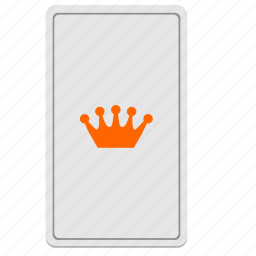 card, crown, divination, king, tarot icon