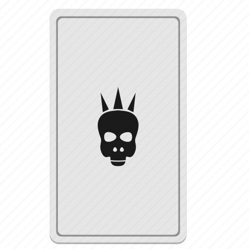 card, death, divination, skull, tarot icon