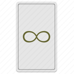 card, divination, infinity, tarot icon