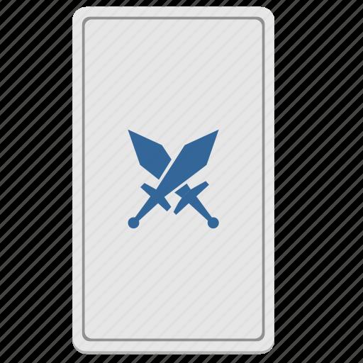 battle, card, divination, swords, tarot, war icon