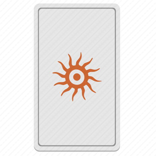 card, divination, eye, fortune, tarot icon