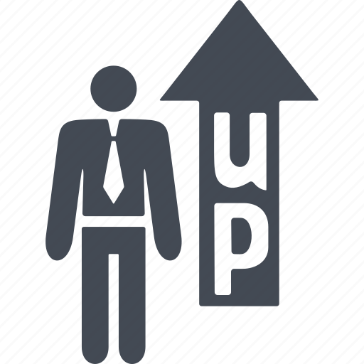 career ladder, growth, increase, promotion icon