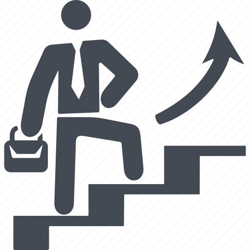 career advancement, career ladder, growth, success icon