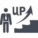 career ladder, stairs, arrow, career, promotion