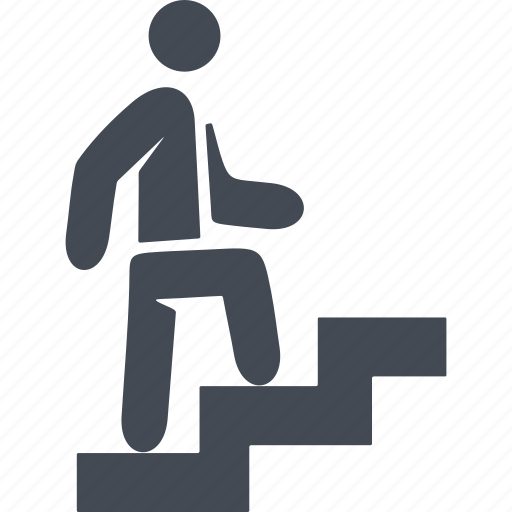 career, career ladder, human, stairs icon